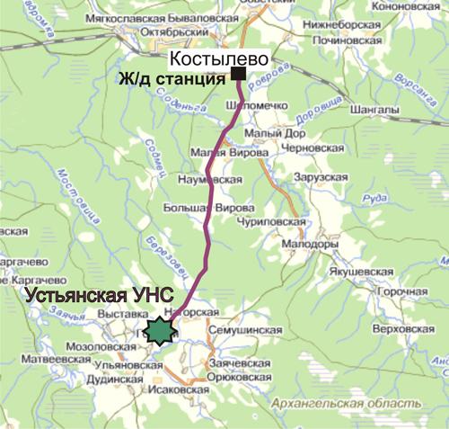 Схема проезда к Архангельской